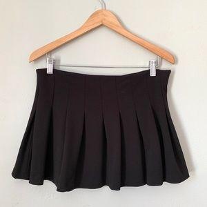 Zara Black Pleated Skater Skirt